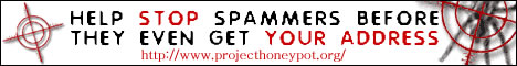 Help Stop Spam Harvesters, Join Project Honey Pot